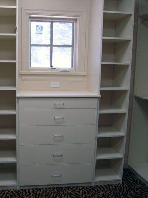 Storage Around Window No Wasted Space Master Bedroom Closets Organization Bedroom Organization Closet Closet Organizing Systems