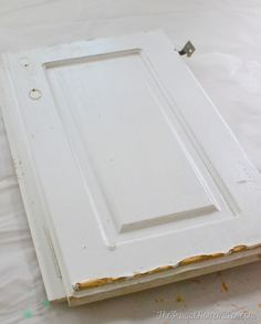 How to re-paint your yucky white cabinets   Laminate ...