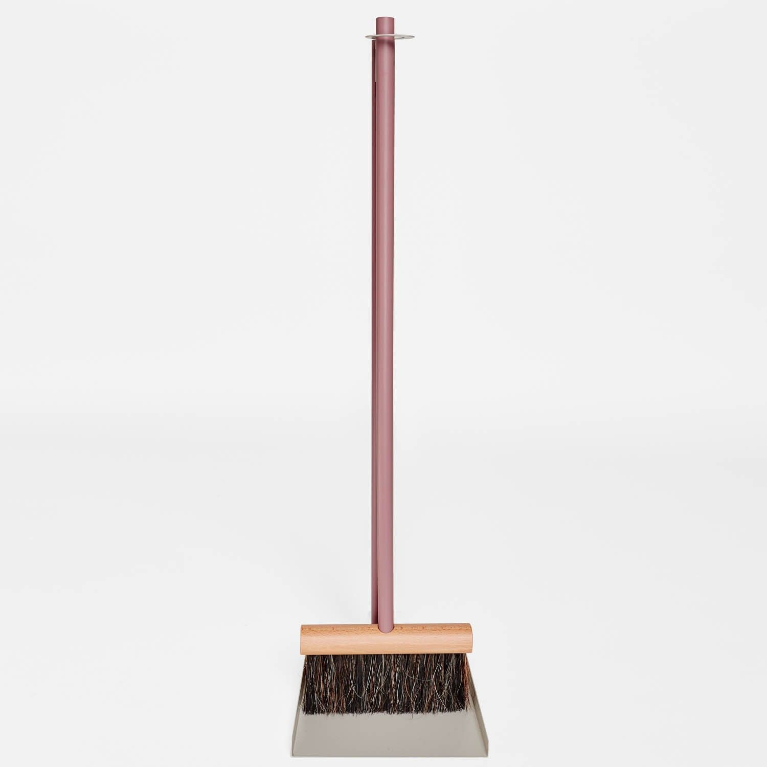 Natural materials - like oil-treated French beech wood and horsehair - bring the art of fine, handmade tools back into everyday cleaning. Tough bristles pick up dust, dirt, and grime naturally and without leaving residue. This standing broom and dustpan provide thorough cleaning and feature a sleek aesthetic.