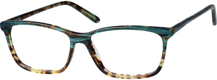 a52a4dc4062 Green Rectangle Glasses  4417324