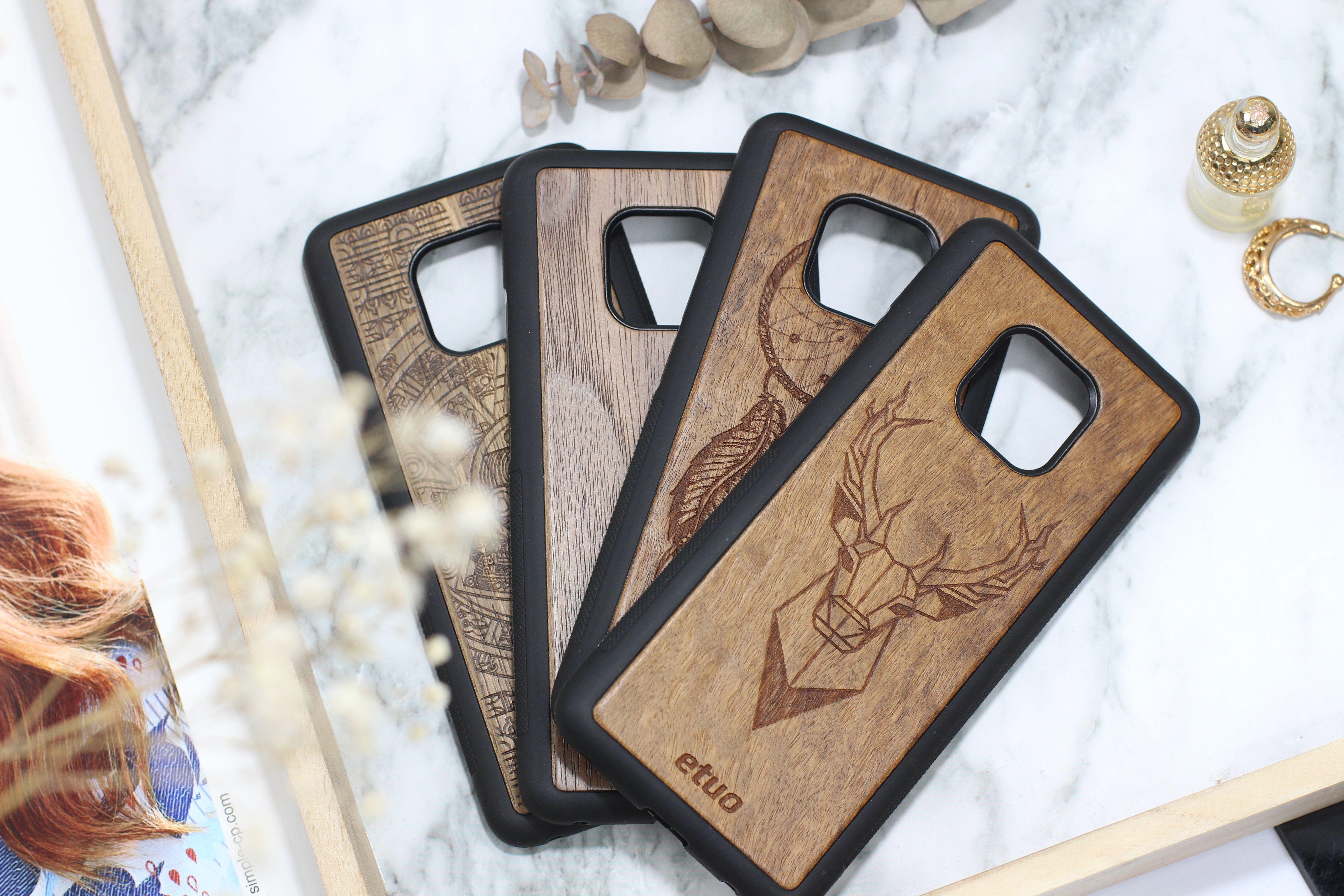 Piekne Drewniane Etui Wood Case Pokrowce Z Motywem Naturalnego