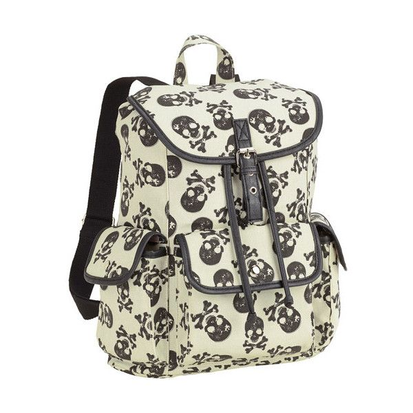 Boundaries Printed Canvas Buckle Flap Backpack ($18) ❤ liked on Polyvore featuring bags, backpacks, accessories, flap backpack, buckle bag, canvas backpack, rucksack bag and flap bag