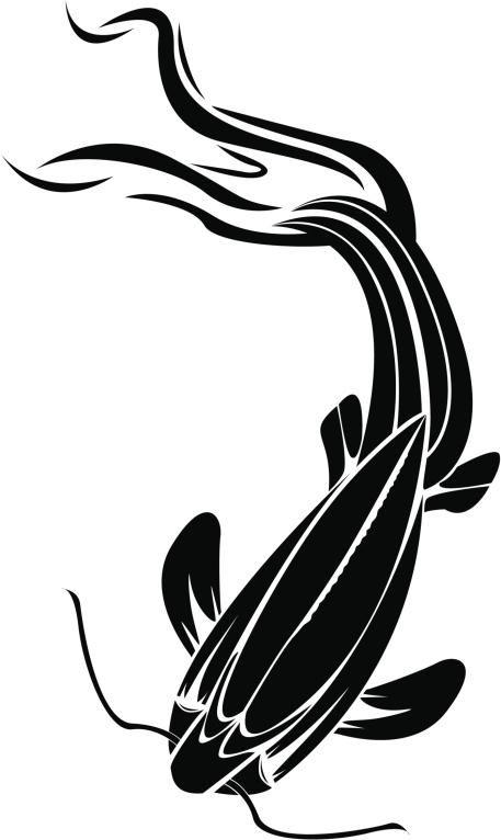 Plantillas para tatuajes del pez koi 02