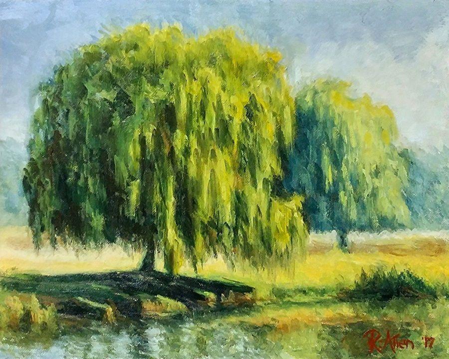 """Willows by Rochelle Allen Oil ~ 8"""" x 10"""""""