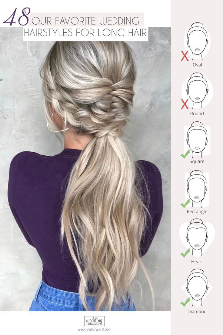 72 Best Wedding Hairstyles For Long Hair 2019 #ponytailhairstyles