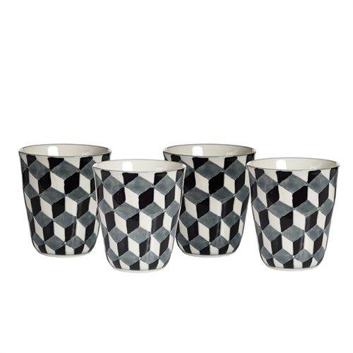 Cups 3-D black set4 - pols potten
