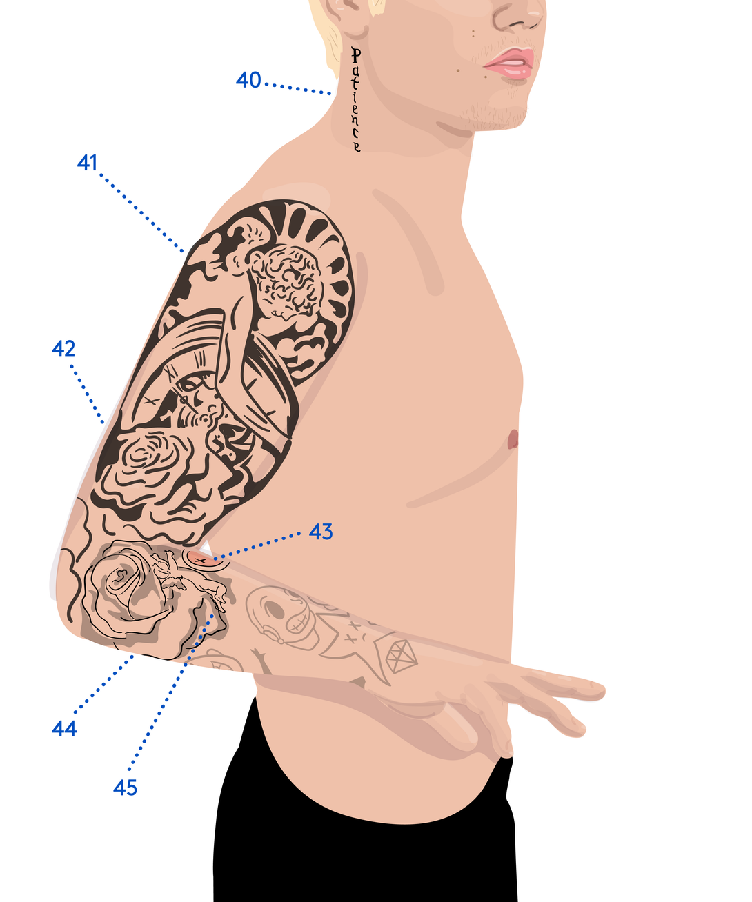 We Mapped Out Justin Bieber's Massive Tattoo Collection in