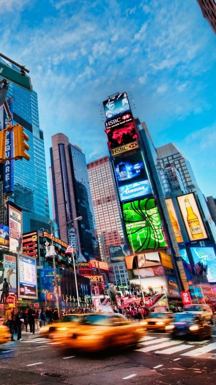 Times Square New York Wallpaper Times Square New York New York City Travel New York Wallpaper