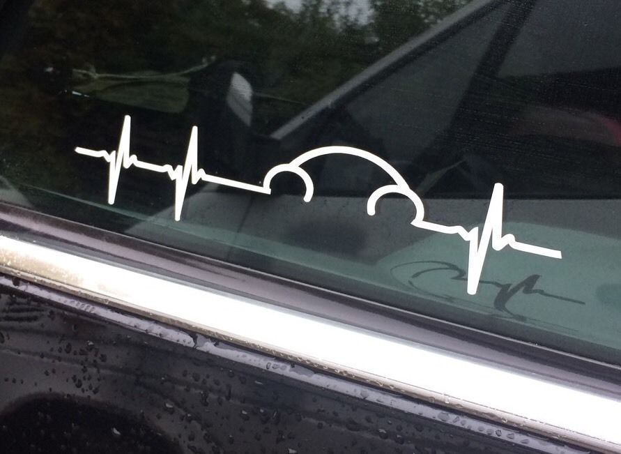 Vw Volkswagen Beetle Pulse Heartbeat Window Decal Sticker Graphic Vag Not Euro Ebay