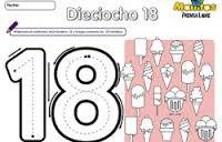 Resultado De Imagen Para Numero 18 Para Colorear Match Ideas