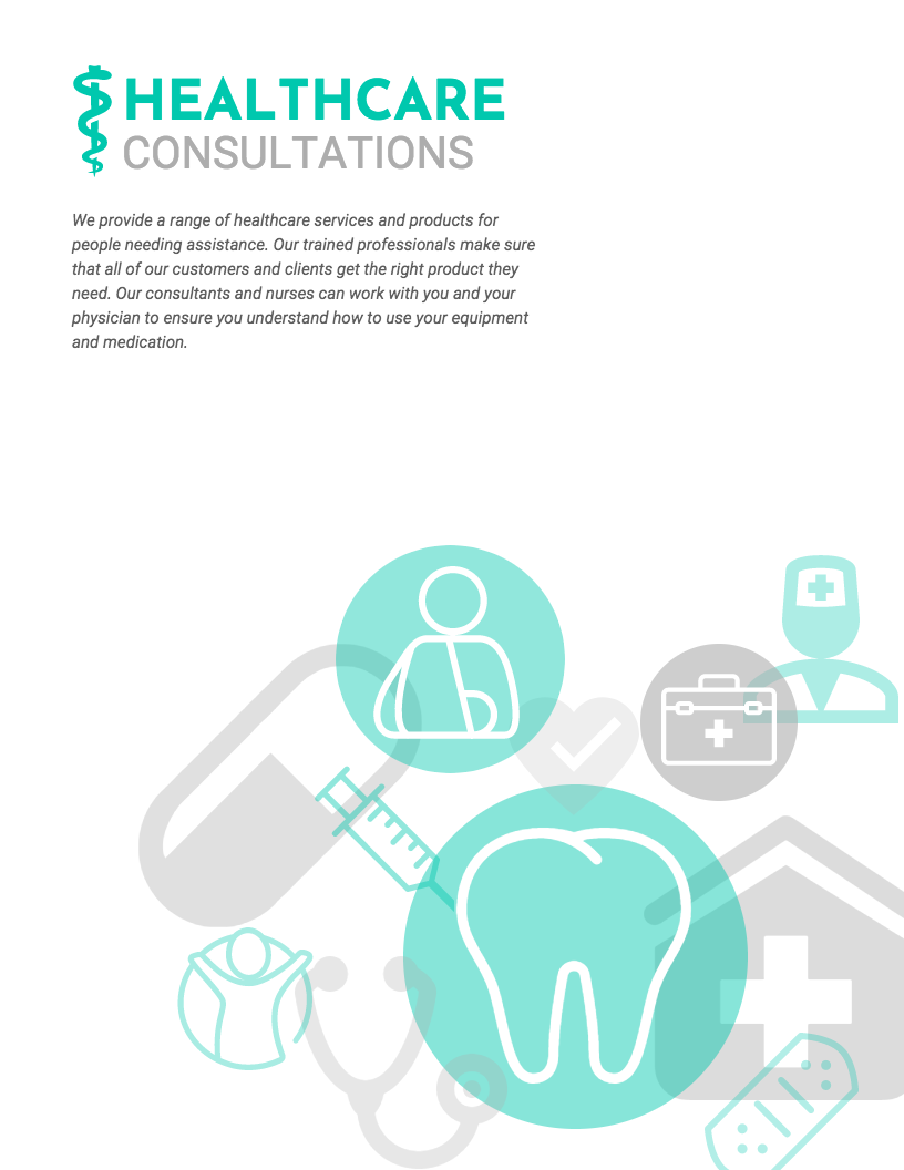 Health care products illustration
