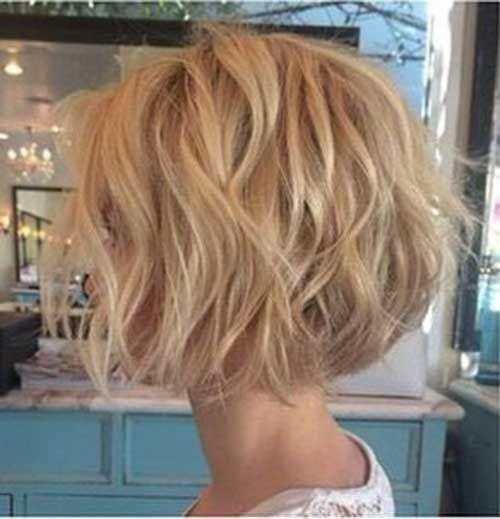 Frisur kurze wellige haare
