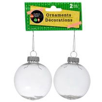bulk crafters square paintable clear plastic christmas ball ornaments 2 ct packs at dollartreecom - Christmas Ball Ornaments Bulk