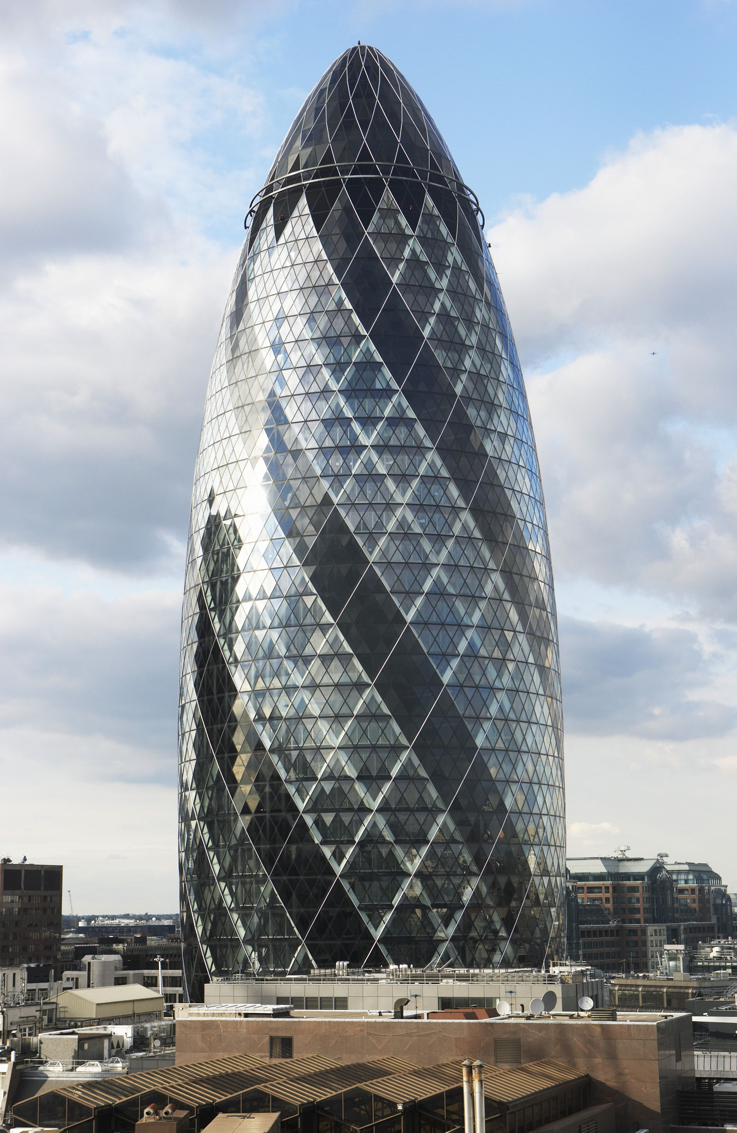 Gherkin Building London Foster Norman Pinned by www