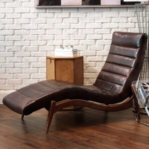 Brown Leather Chaise Lounge Chairs Indoors | http://abrut.us | Pinterest