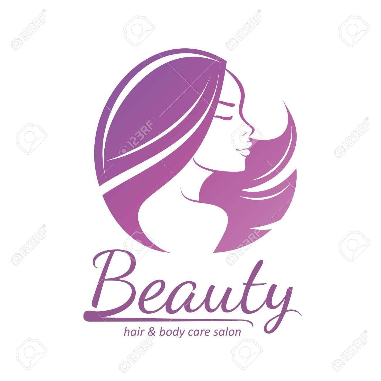 Womans Hair Style Stylized Sillhouette Beauty Salon Logo Template Ad Style Stylized Womans Hair Si Beauty Salon Logo Womens Hairstyles Salon Logo