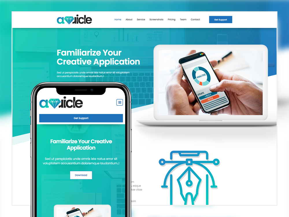 Auricle Familiarize App Web Application Template Web Application Templates Free Html Templates
