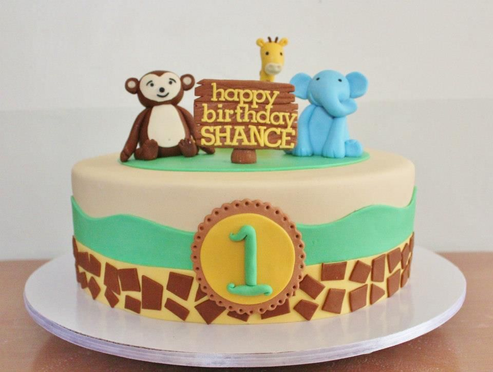 simple safari cake