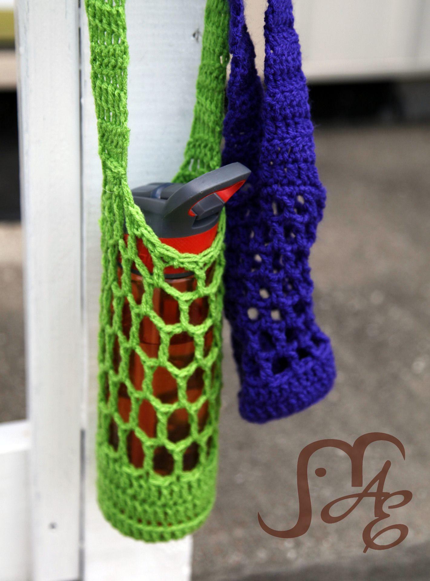 Free crochet pattern water bottle holder crochet patterns free crochet pattern water bottle holder bankloansurffo Choice Image