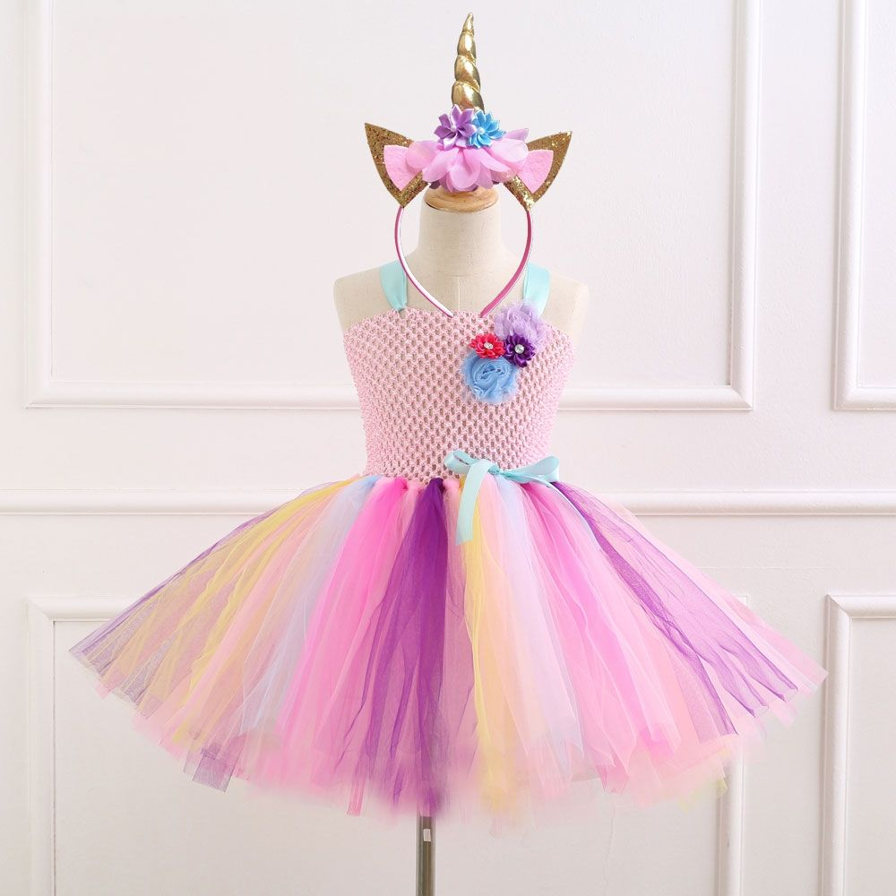 6832fdacc149 Unicorn pattern colorful tutu dress with designer shoulders //Price: $17.07  & FREE Shipping // #girlsdresses