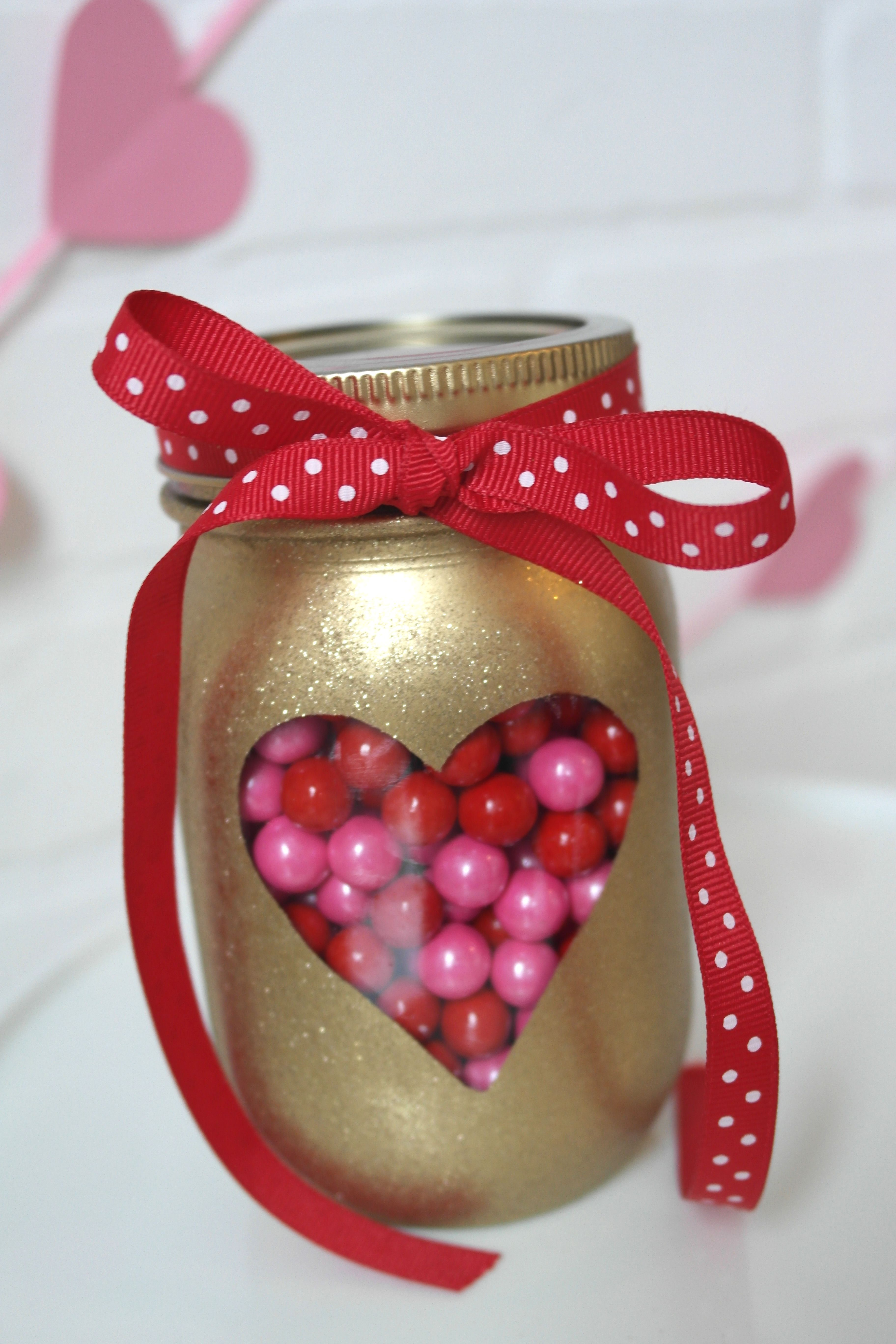 Diy Valentines Day Mason Jars Love Hearts And Valentine S Day