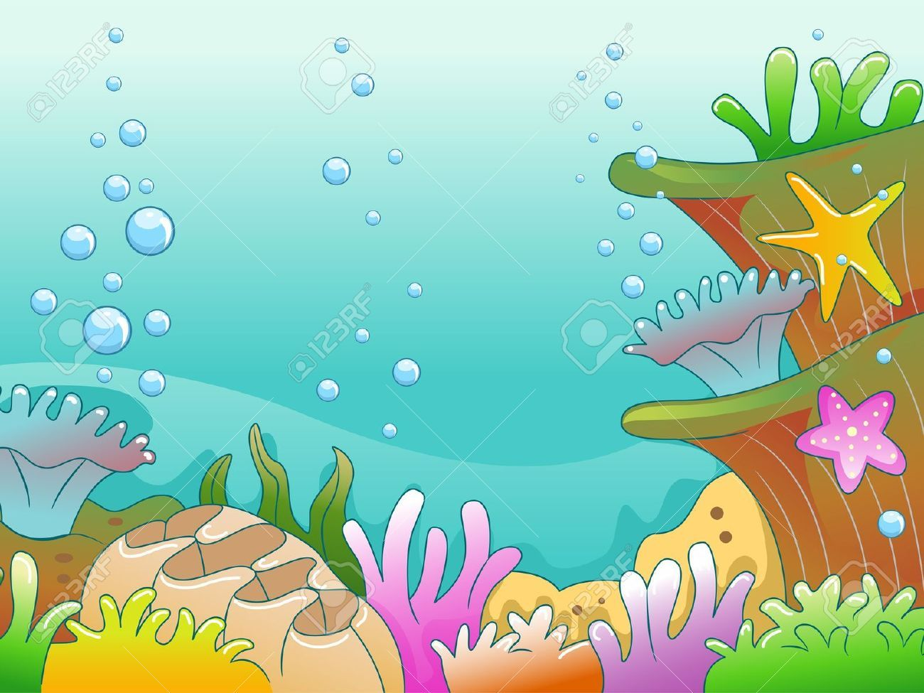 ocean seabed | Illustration, Underwater, Scene