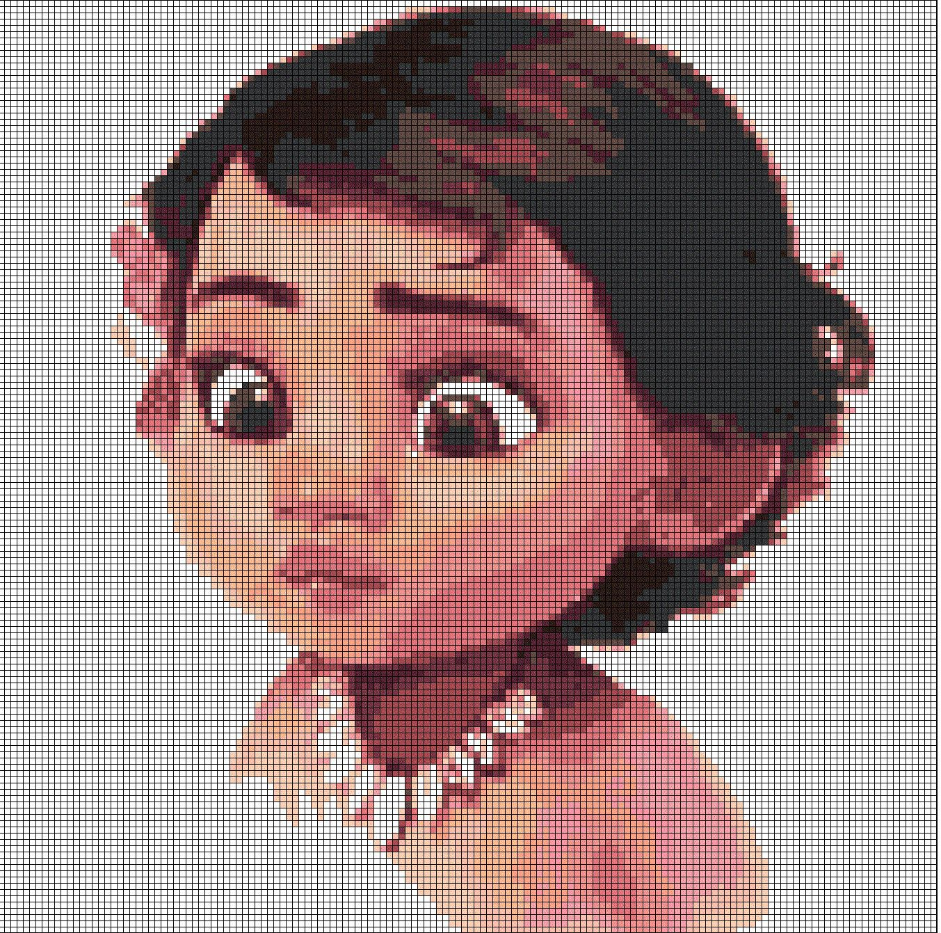 Little Moana Disney princess cross stitch pattern in pdf by ...