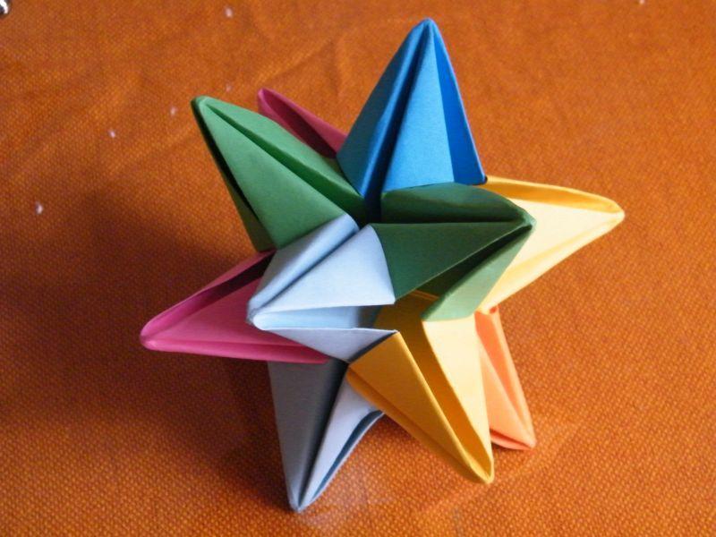 Cool 3d Origami Star Httpikuzoorigamicool 3d Origami