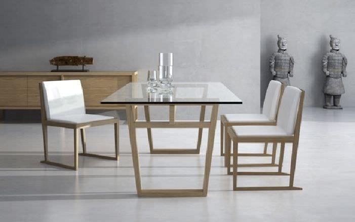 Mesa de comedor moderna   de vidrio   de interior MARALBA CELDA