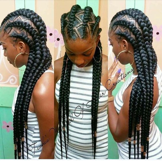 Feed In Braids Black Women Natural Hairstyles Braids