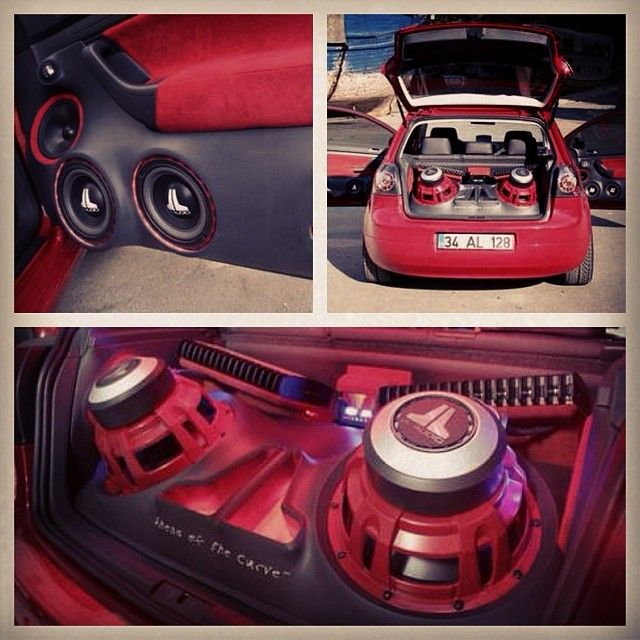 Vw Golf V Enclosure Car Stereo Trunk Install JL Audio