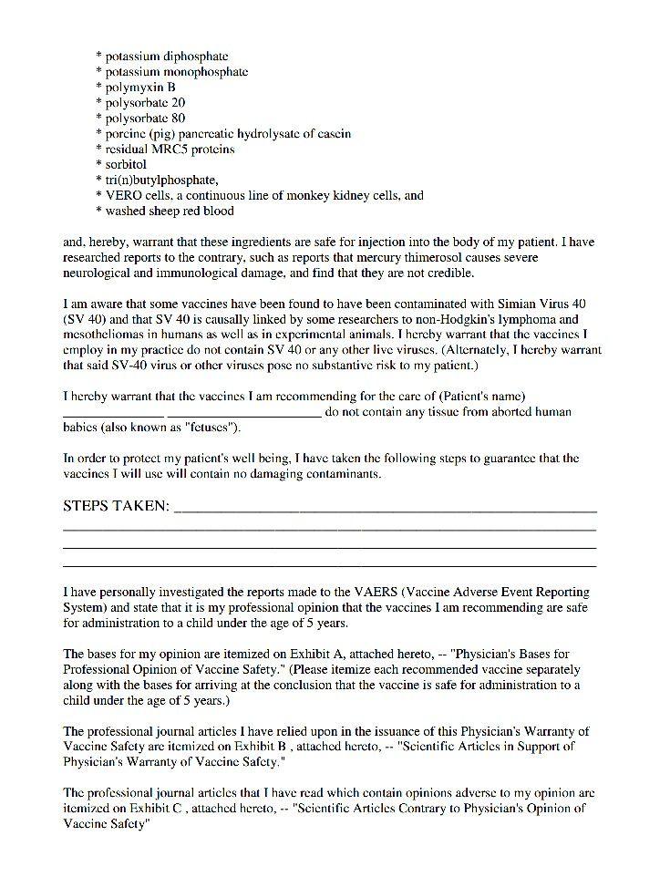 Form part 2 HEALTH - 1 VACCINES (r*) Pinterest