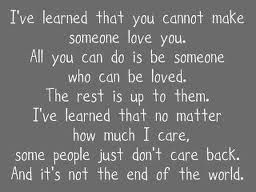I've learned... Or am trying to learn