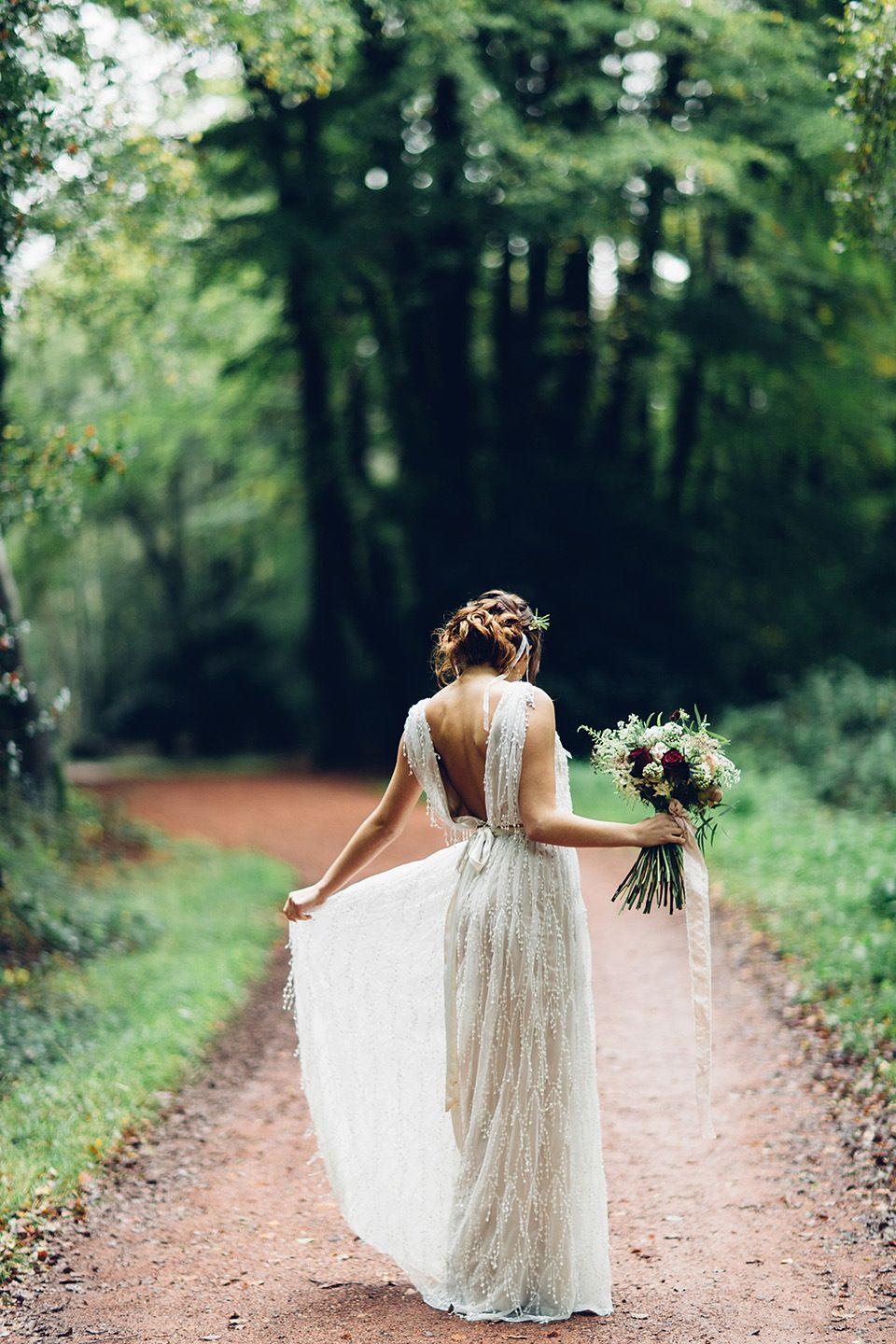 Simple wedding dresses for eloping  A Beautiful and Whimsical Woodland Elopement  Elopements Wedding