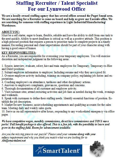 129 best Jobs/Washington State images on Pinterest Opportunity