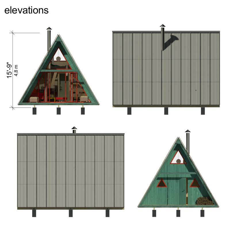 Tiny house plans with construction process complete set of Home building process