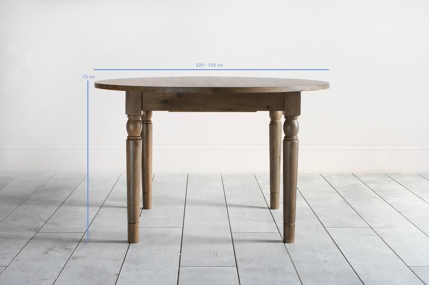 Oak Round Extending Dining Table
