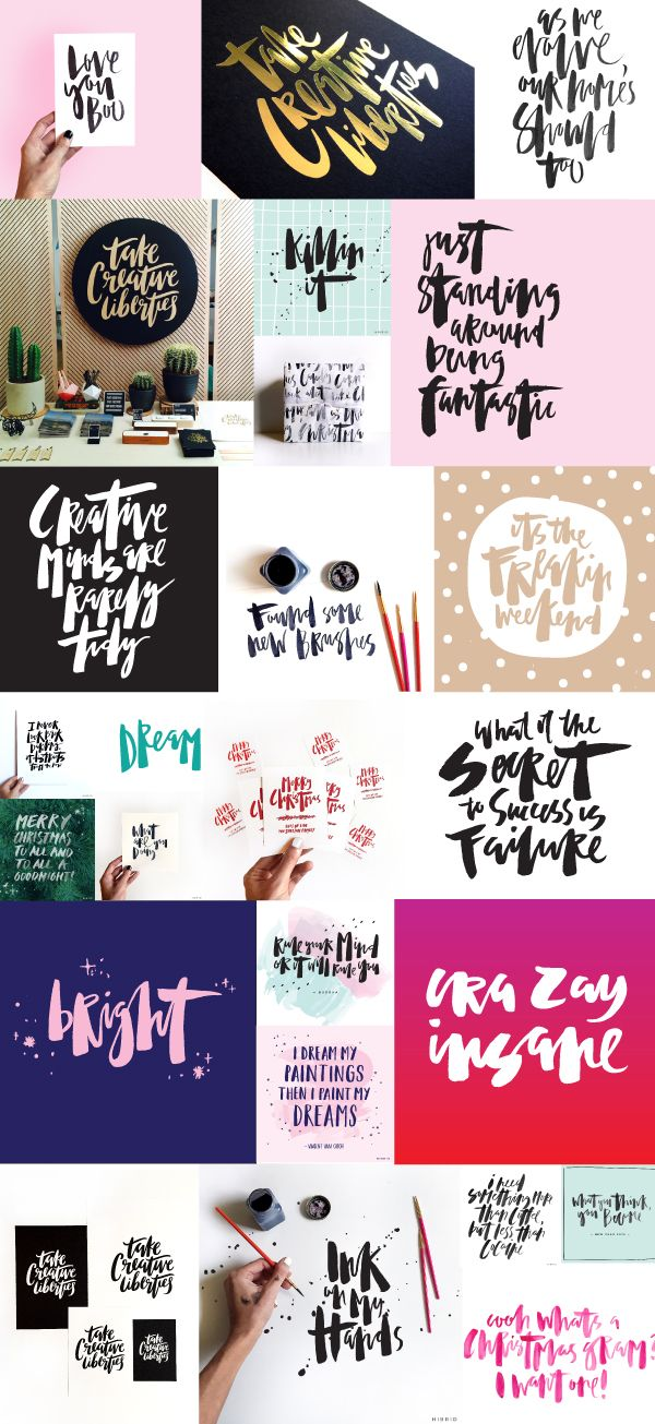 It's been awhile since I did a lettering recap, so I think we're due for another one now! I love going back and looking at what I have created to see some of the things that I am still doing the same, and also how far I have come. From color, to different lettering …