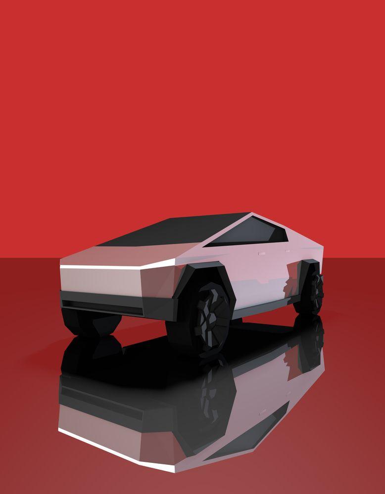Cybertruck Low Poly Art Print By Pelopoly X Small Low Poly Art Low Poly Car Low Poly