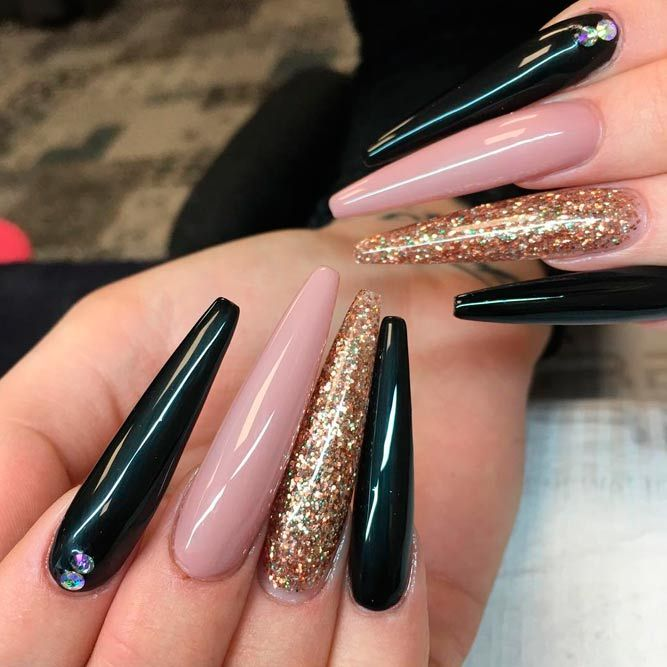 33 Best Long Nail Designs for Glamorous Girls - 33 Best Long Nail Designs For Glamorous Girls Long Nail Designs