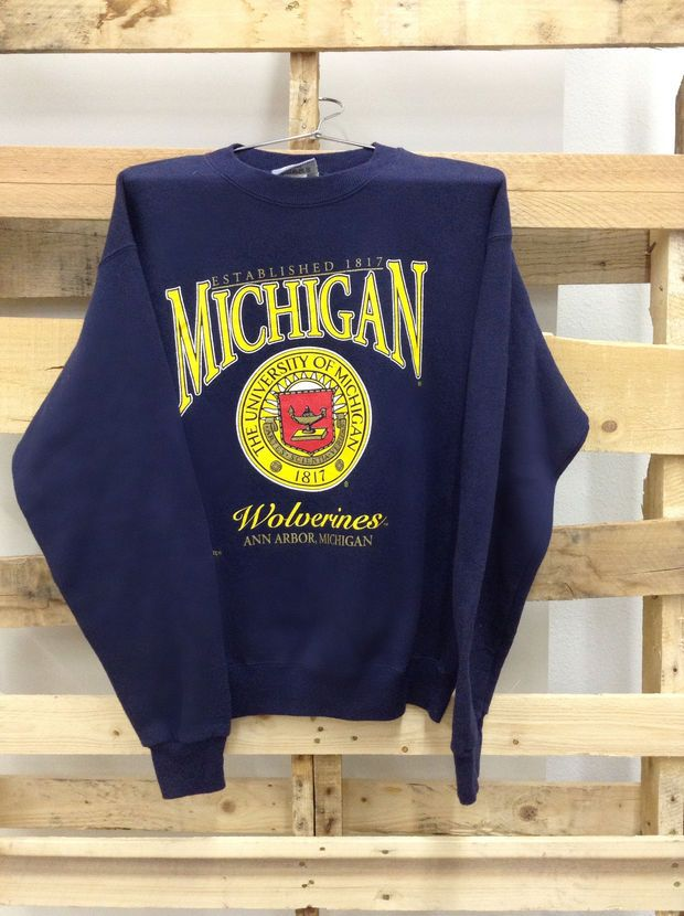 dee03c4a7829 Vintage College Sweatshirt- University of Michigan
