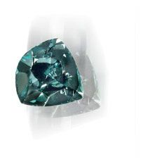 Ocean Dream - By virtue of its color alone, the Ocean Dream is one of the very rarest diamonds known to man. The incredible color of this 5.51 carat diamond is so rare that many gemologists would presume that it was artificially colored. However, following, thorough scientific evaluation, GIA has concluded that the Ocean Dream's breathtaking Fancy Deep Blue-Green color results from exposure to natural radiation over millions of years in the Earth.