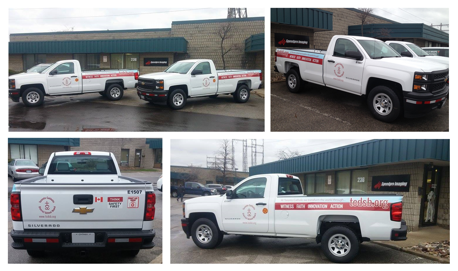 This great truck decal collage completed by Speedpro