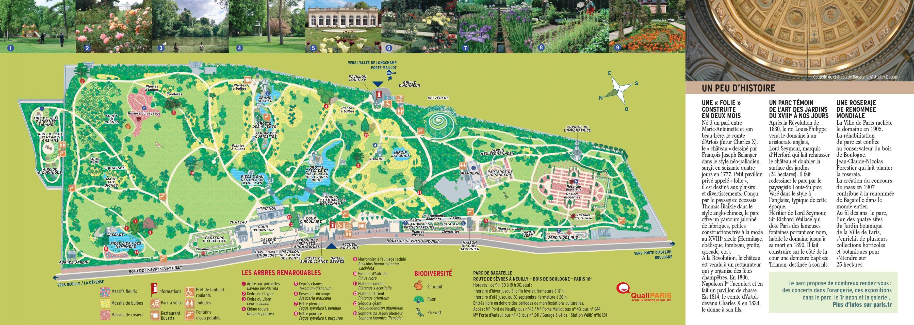 Washington Dc Popout Map%0A The Parc de Bagatelle map  Map of The Parc de Bagatelle  France