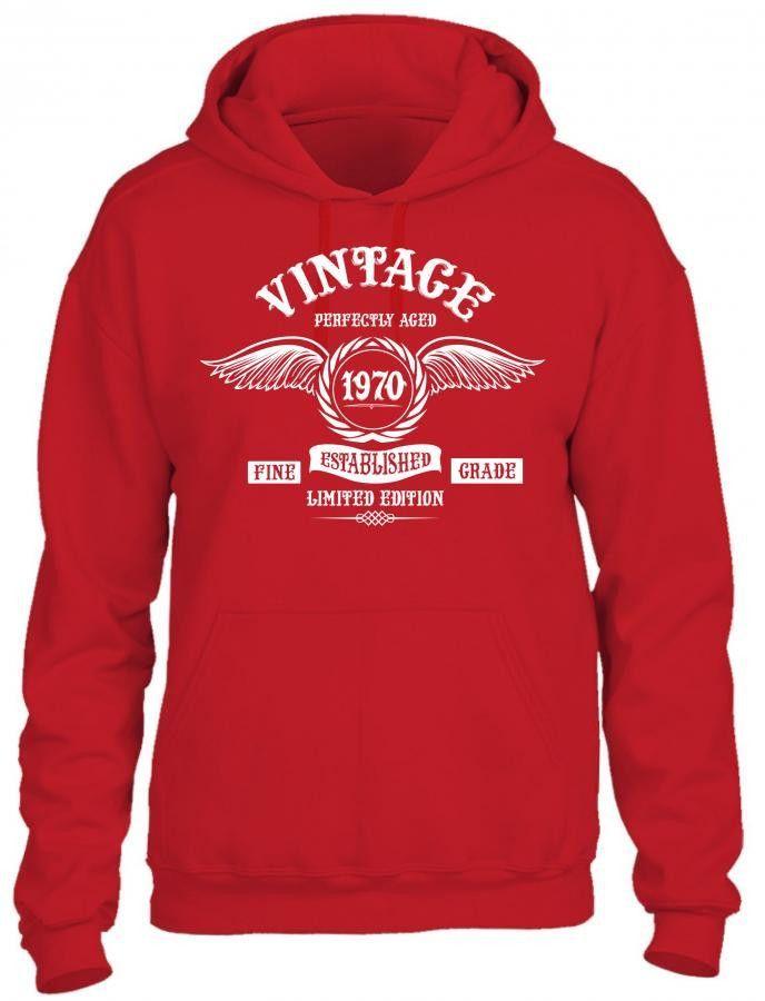Vintage Perfectly Aged 1970 Hoodie