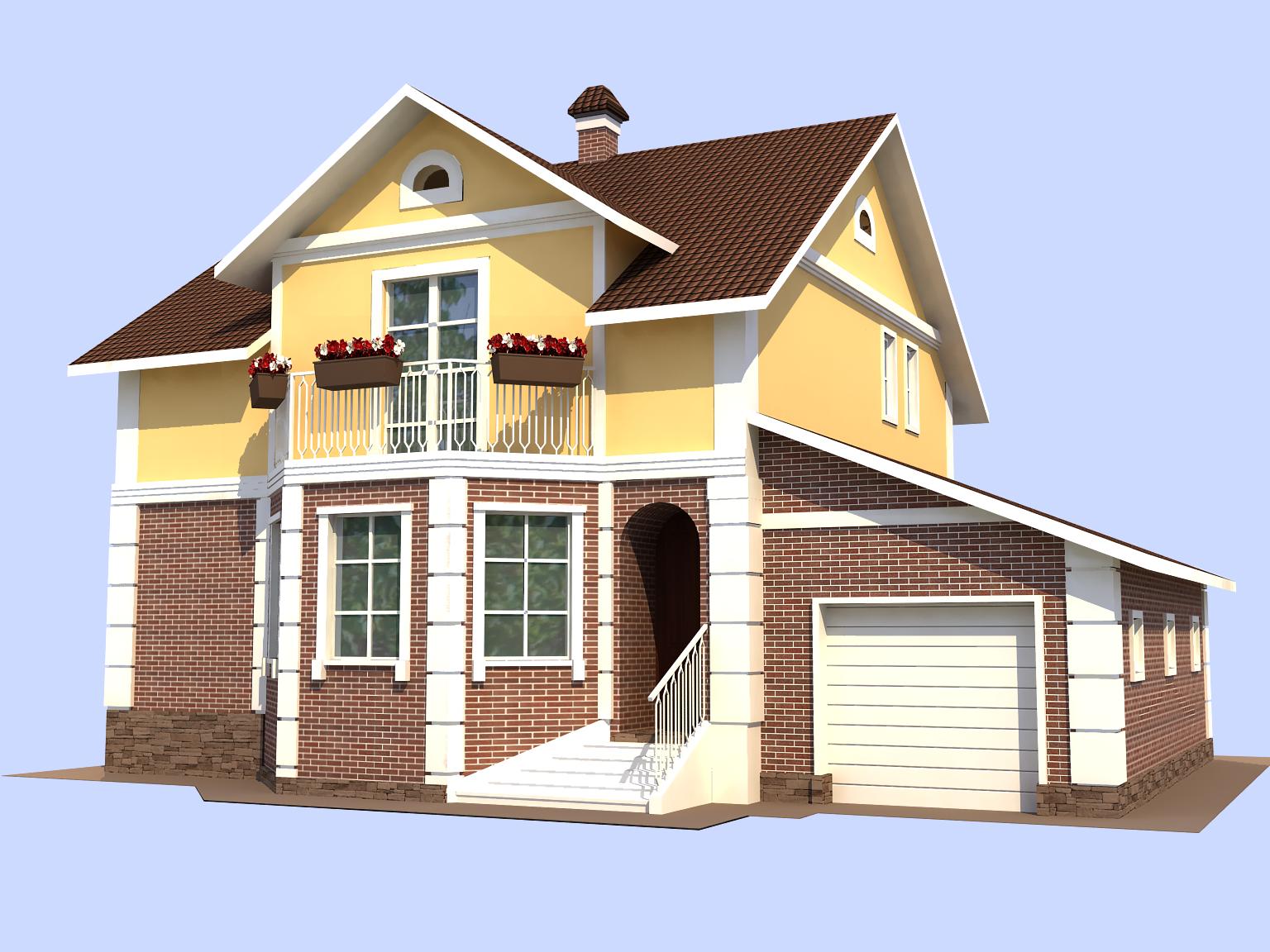 Картинки с домом на белом фоне