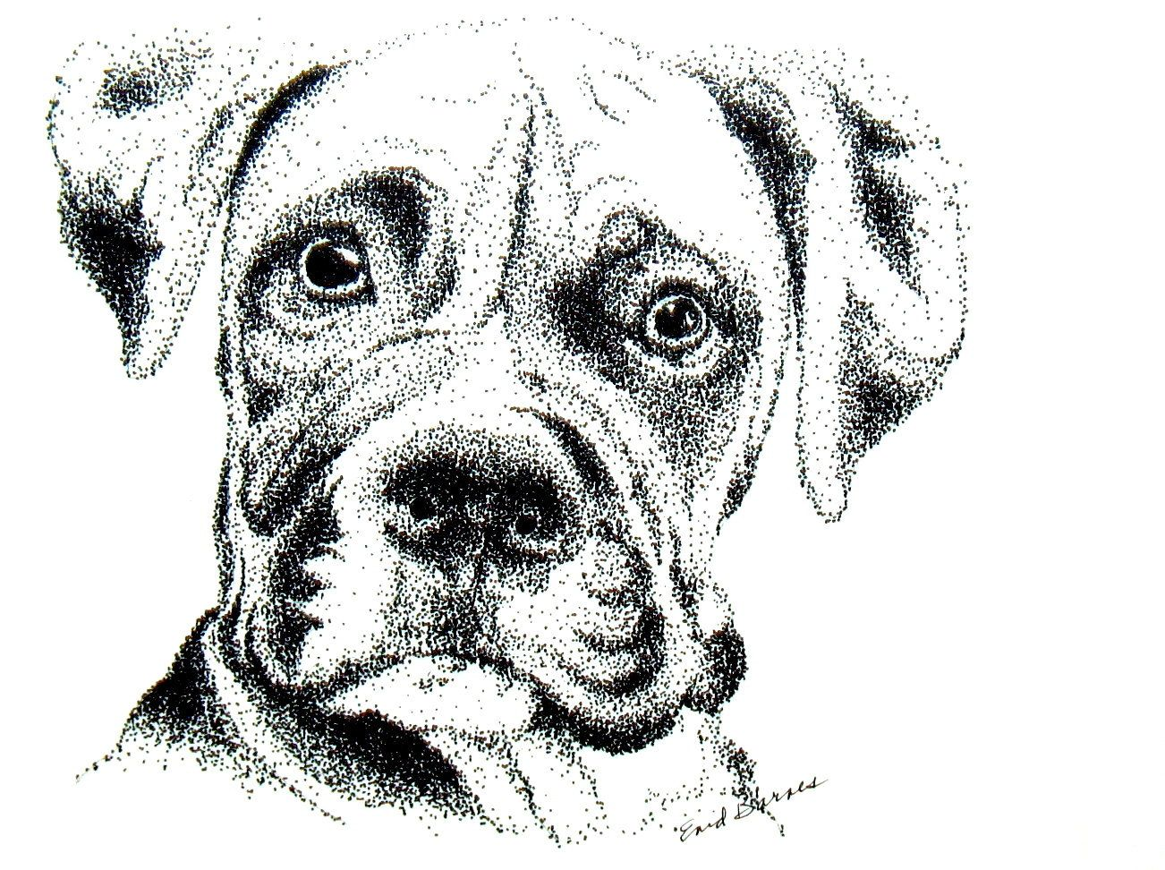 pointillism drawing Google Search Dotted drawings, Dog
