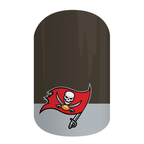 Tampa Bay Buccaneers | NFL Collection by Jamberry | Get gameday style with Jamberry's NFL Collection. Our officially licensed NFL products feature your favorite team logo and colors so you can cheer your team to victory with 'Tampa Bay Buccaneers' on your nails.