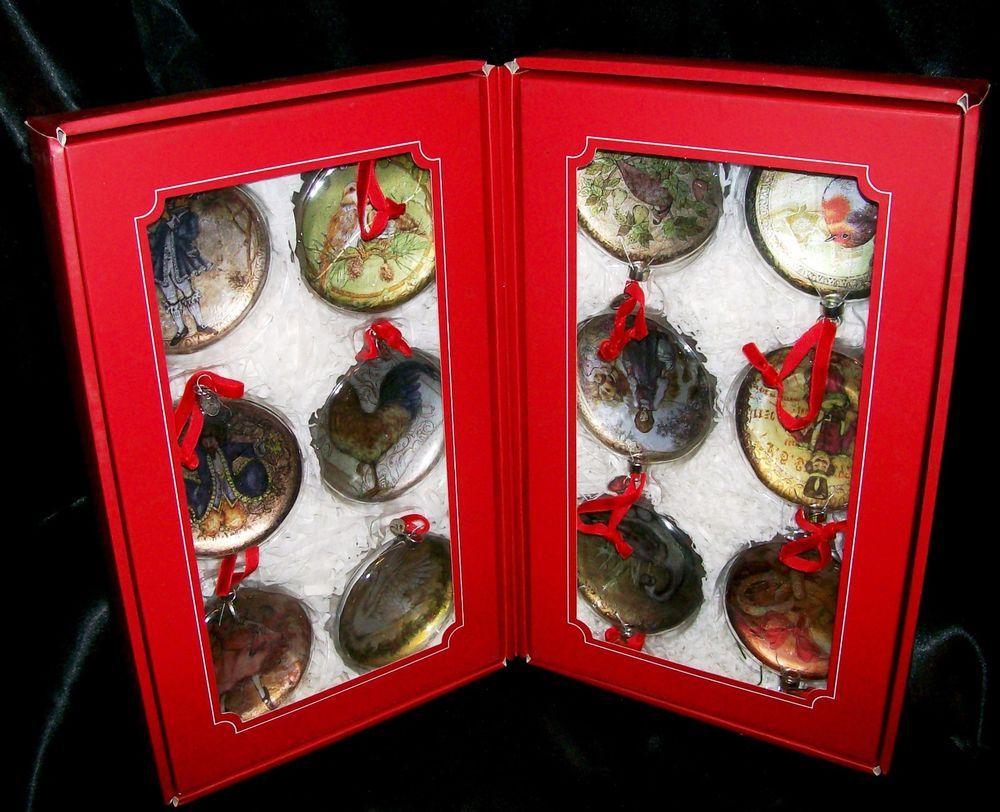 Pottery Barn Twelve Days Of Christmas Ornament Set NIB ...