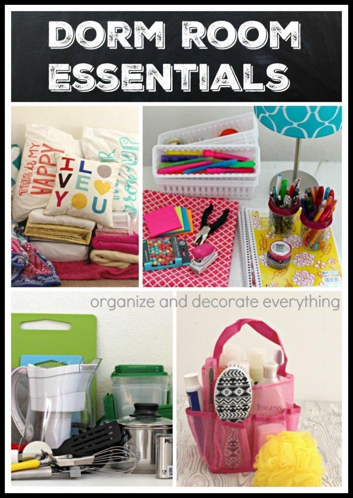 Dorm Room Essentials | Dorm room food, Dorm room, College ...